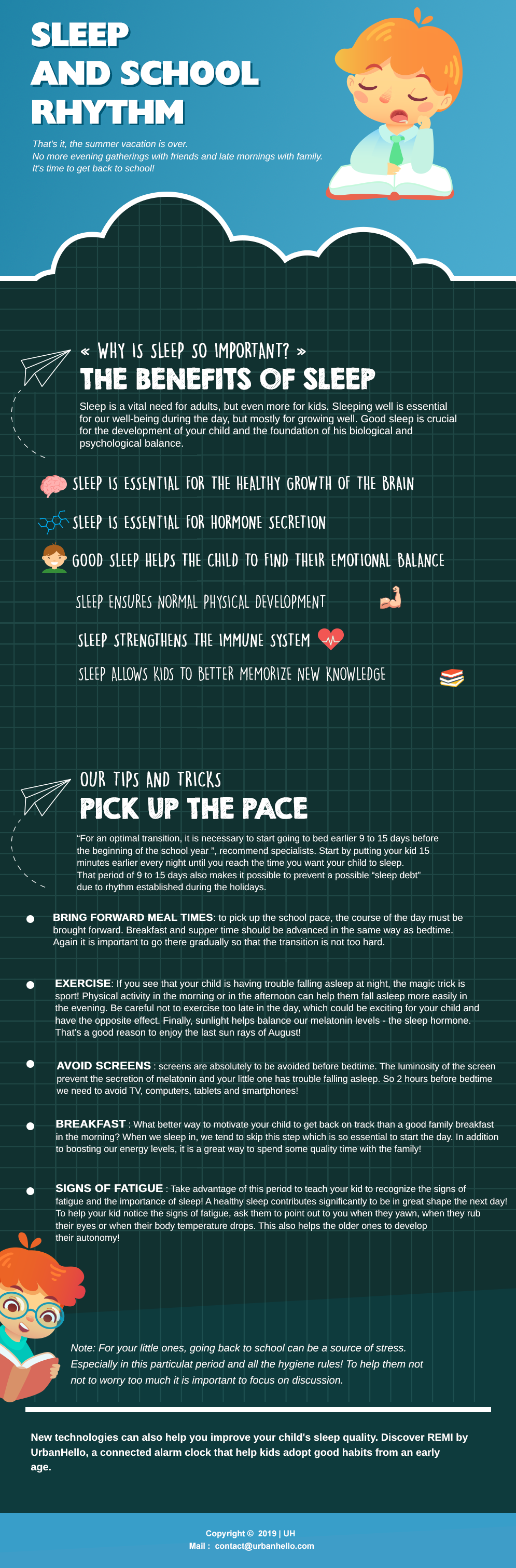 Infographic - Back to school - How to pick up the pace !